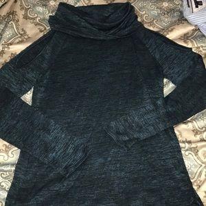 NWOT!! Women's open shoulder cowl neck sweater!
